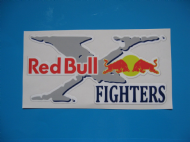 RED BULL X FIGHTERS stickers/decals x 2